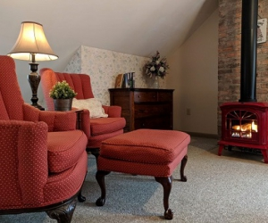 Room D: Creekside Room with Free-Standing Gas Fireplace, 3rd Floor